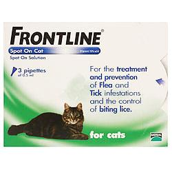Frontline Spot On for Cats  3 Pipettes of 0.5ml