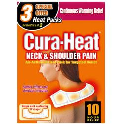 Cura Heat Neck & Shoulder Pain 3 Packs For 2