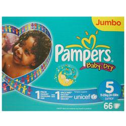 Pampers Baby Dry Jumbo Size 5 Nappies
