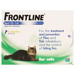 Frontline Spot On for Cats  6 Pipettes of 0.5ml