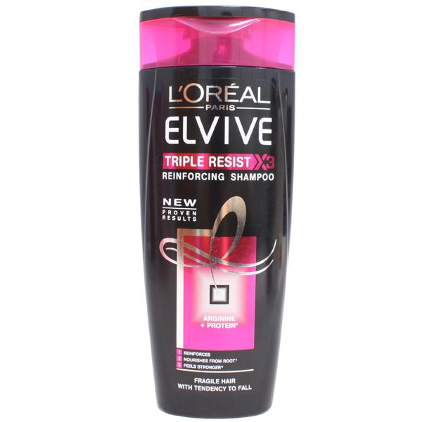 Image of L''Oreal Elvive Triple Resist Reinforcing Shampoo - 250ml