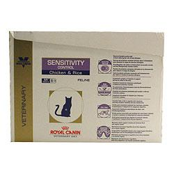 Royal Canin Veterinary Clinical Sensitivity Control Wet Cat Chicken with Rice  48 x 100g