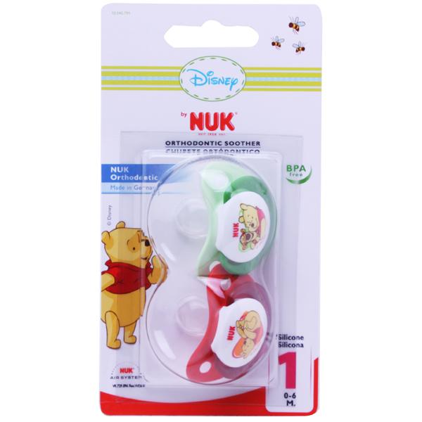 NUK Disney Soother Size 1 RedGreen