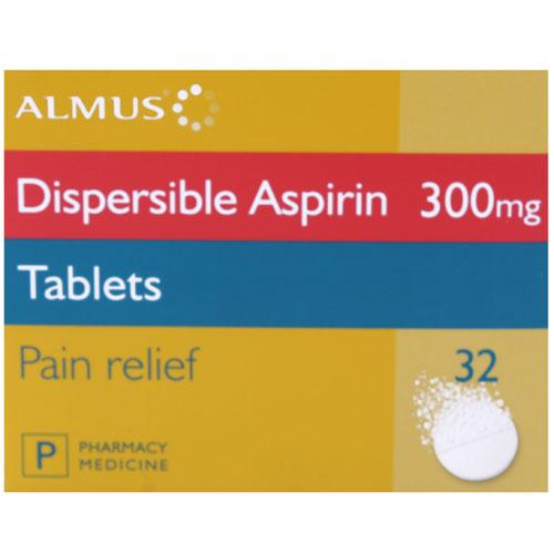 Aspirin Dispersible Tablets 300mg