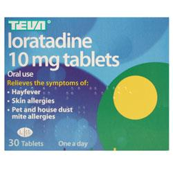 Loratadine 10mg 30 Tablets (Teva)
