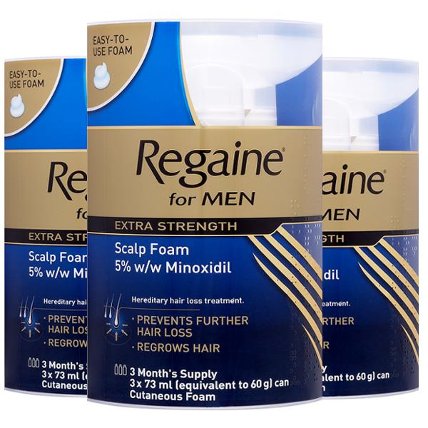 Regaine Foam Extra Strength For Men 9 Months