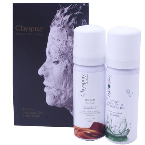 Clayspray Duo Pack Red Clay + H20 Green Tea Spray