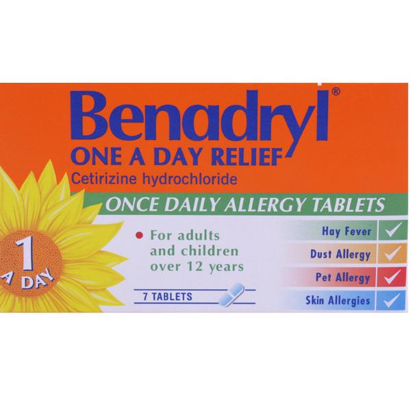 Benadryl Allergy Relief One A Day Tablets