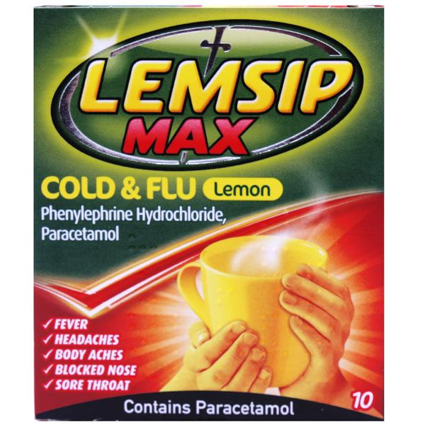 Lemsip Max Cold & Flu Lemon Hot Drink