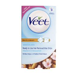 Veet Bikini and Underarm Sensitive Skin Wax Strips