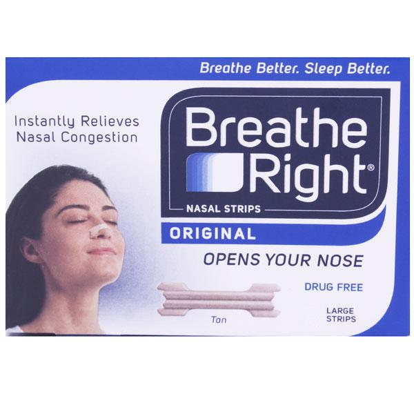 Breathe Right Nasal Strips - Large Tan