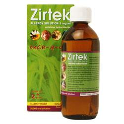Zirtek Allergy Solution Once A Day Banana Flavour