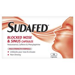 Sudafed Blocked Nose And Sinus Capsules
