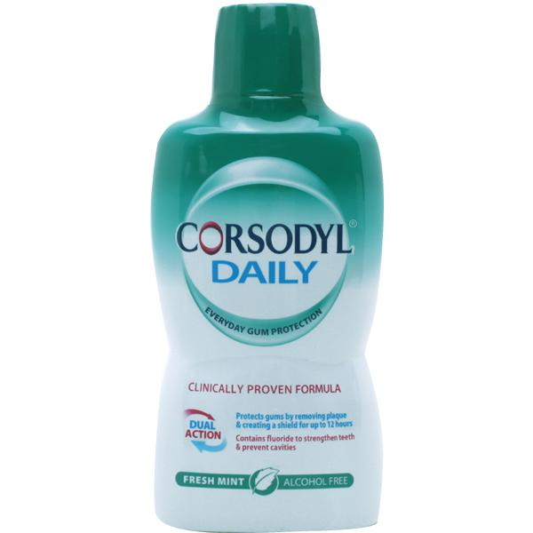 Corsodyl Daily Fresh Mint Mouthwash 500ml