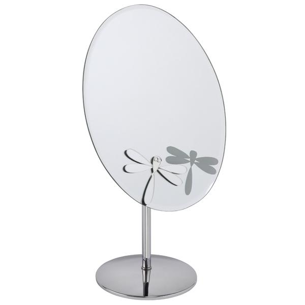Oval Mirror With Dragon Fly Design