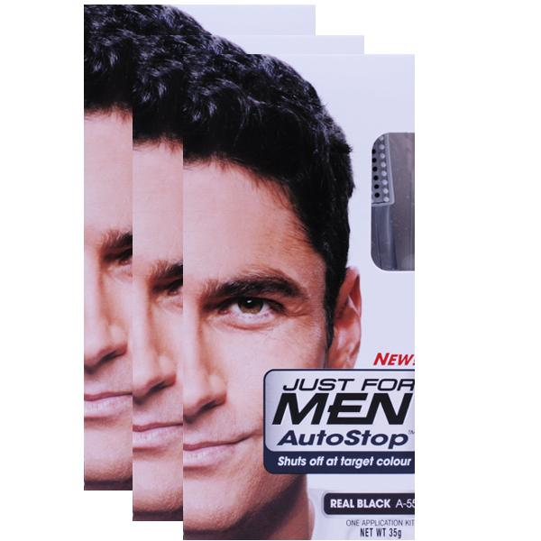 Just For Men AutoStop Real Black Triple Pack