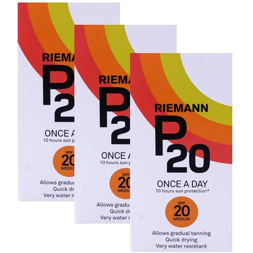 Riemann P20 SPF20 Triple Pack Sun Protection 200ml