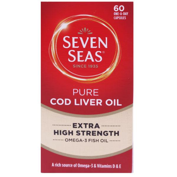 Seven Seas Extra High Strength Cod Liver Oil Capsules