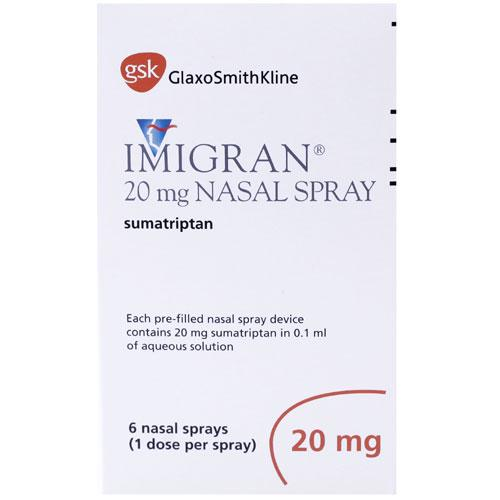 Imigran Nasal Spray 20mg 6 Dose