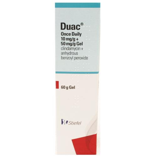 Duac Once Daily (Benzoyl Peroxide 5%, Clindamycin 1% ) Gel 60g