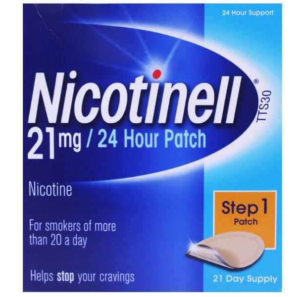 Nicotinell 21mg 21 Day 24 Hour Patch Step 1