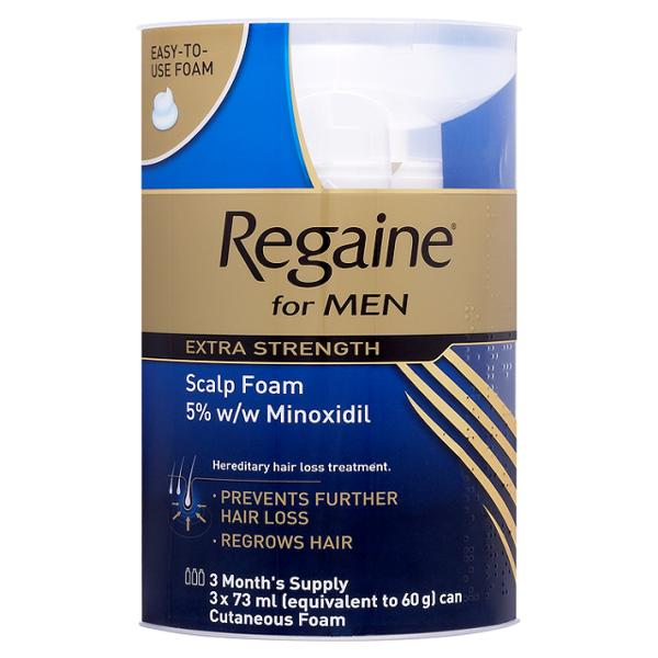 Regaine Foam Extra Strength For Men Triple Pack