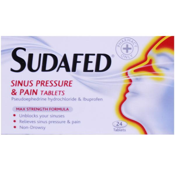 Sudafed Sinus Pressure And Pain Tablets