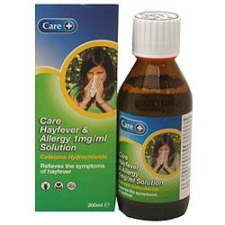 Hayfever & Allergy 1mg Solution (Care)