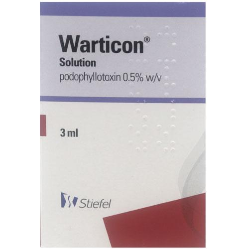 Warticon (Podophyllotoxin) Solution 0.5%