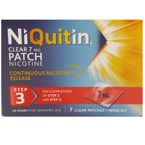 Niquitin CQ Clear 7mg Step 3 - 1 Week Kit