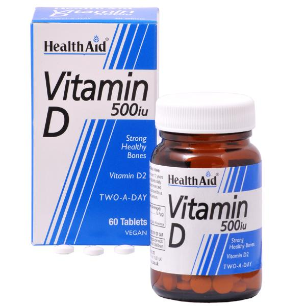 HealthAid Vitamin D 500iu Tablets