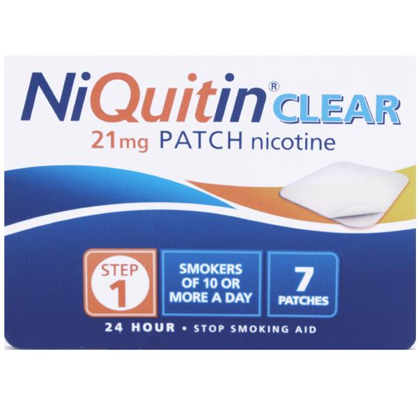 NiQuitin CQ Clear 21mg Step 1 - 1 Week Kit