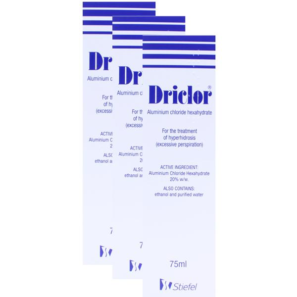 Driclor Rollon 75ml Triple Pack