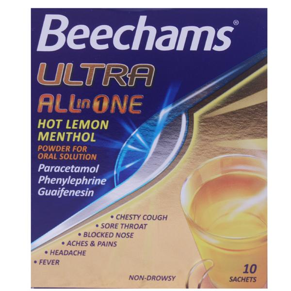 Beechams Ultra All-In-One Hot Lemon Menthol