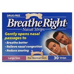 Breathe Right Nasal Strips - Large Tan (6 Packs)