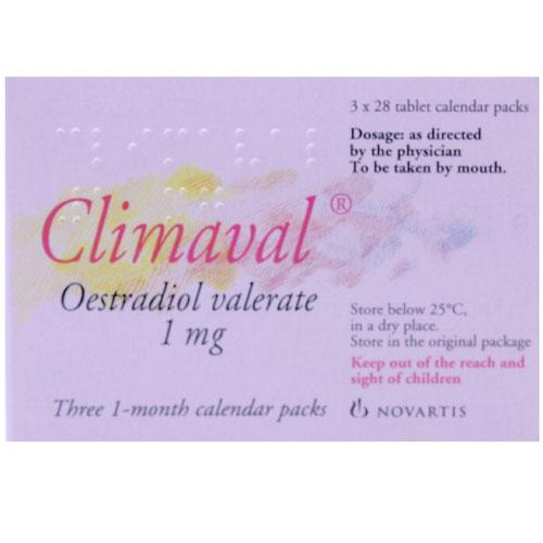Climaval Estradiol Valerate 1mg Tablets