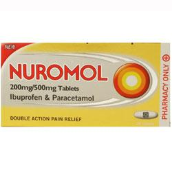 Nuromol 200mg/500mg 24 Tablets