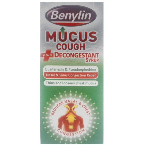 Benylin Mucus Cough Decongestant Syrup