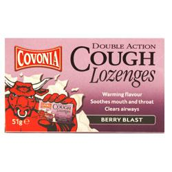 Covonia Double Action Lozenges Berry Blast