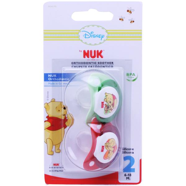 NUK Disney Soother Size 2 RedGreen