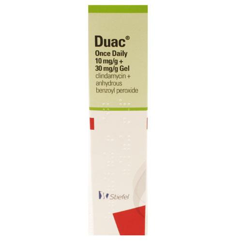 Duac Once Daily (Benzoyl Peroxide 3%, Clindamycin 1% ) Gel 60g