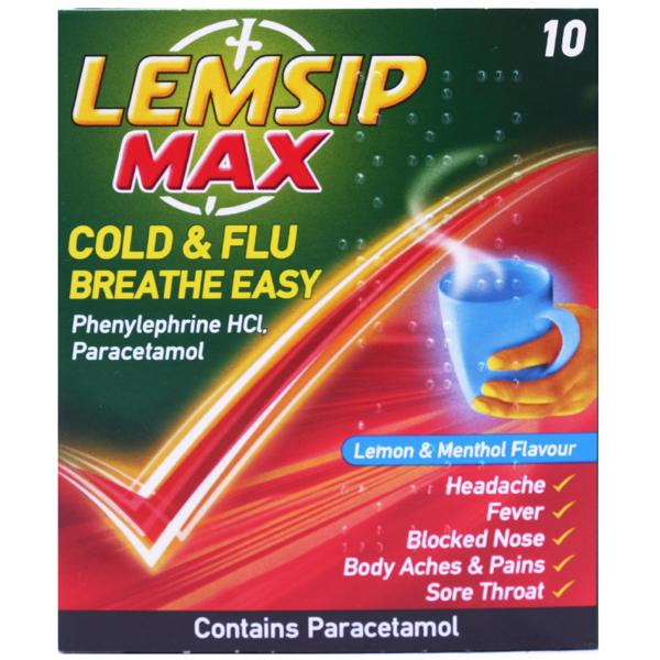 Lemsip Max Cold & Flu Breathe Easy