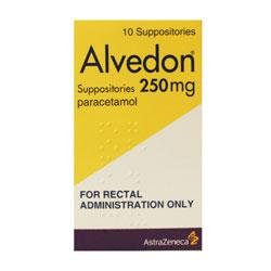 Alvedon 250mg Paracetamol Suppositories