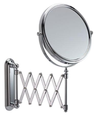 Extending Wall Chrome Mirror 5x Mag
