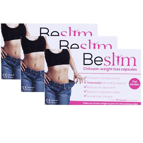Beslim Chitosan Weight Loss Capsules Triple Pack