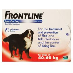 Frontline Spot On for Extra Large Dogs - 40kg to 60kg