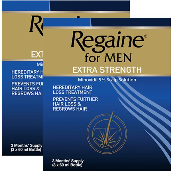 Regaine Extra Strength For Men Triple Pack x 2