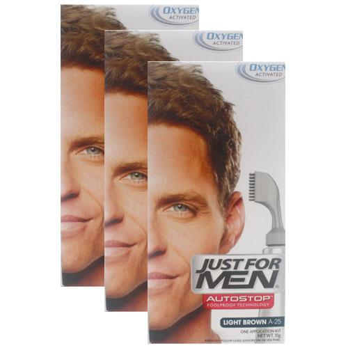 Just For Men AutoStop Light Brown Triple Pack