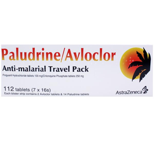Paludrine and Avloclor Antimalarial Tablets Travel Pack