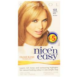 Clairol Nice'n Easy 103 Natural Light Beige Blonde